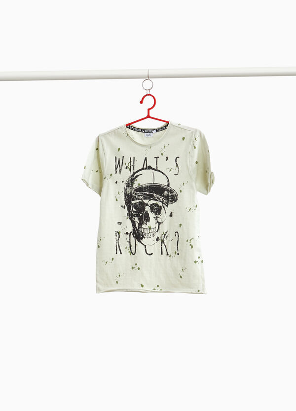 100% cotton T-shirt with skull print
