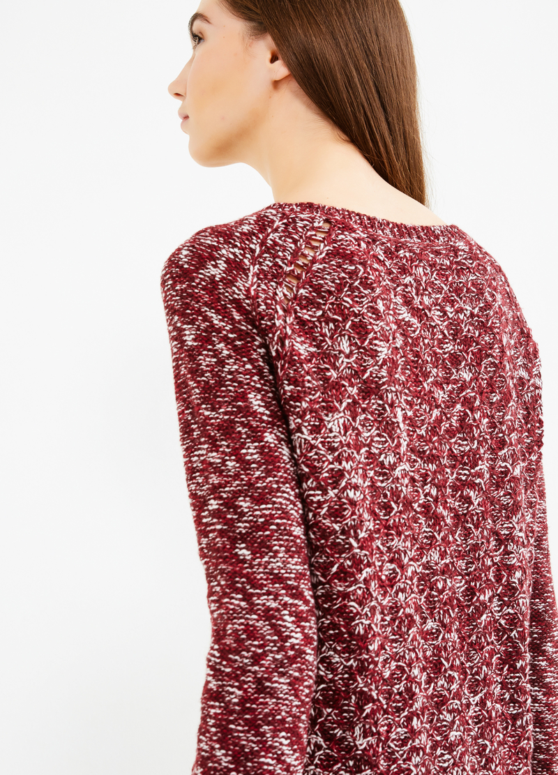 Knitted mélange pullover image number null