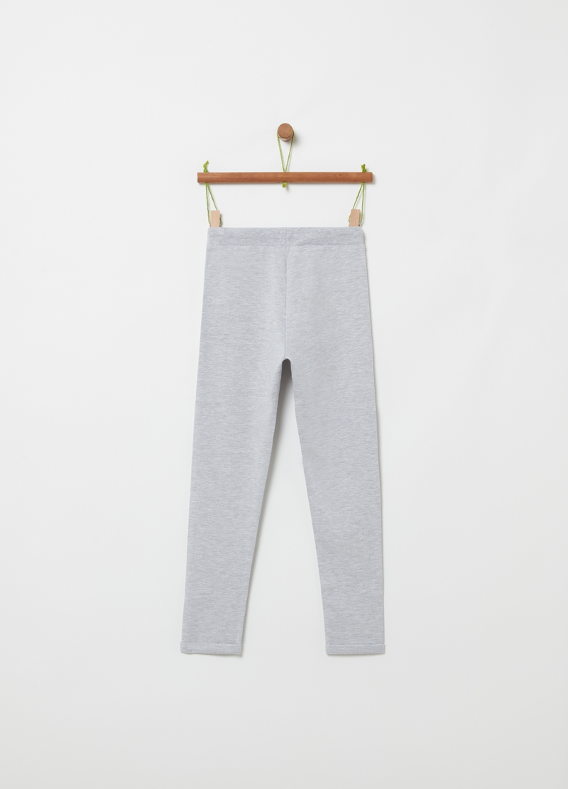 Mélange joggers with drawstring image number null