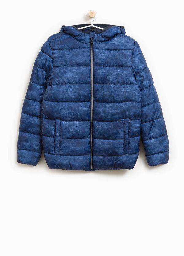 Jacket with hood and all-over print | OVS