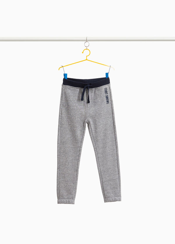 Joggers in cotton blend with print