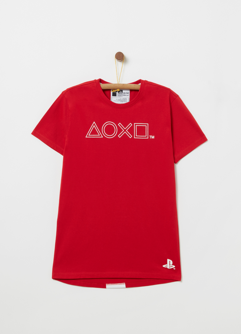 100% cotton T-shirt with Playstation print image number null