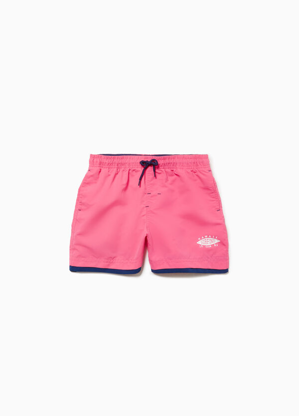 Faux layered beach shorts