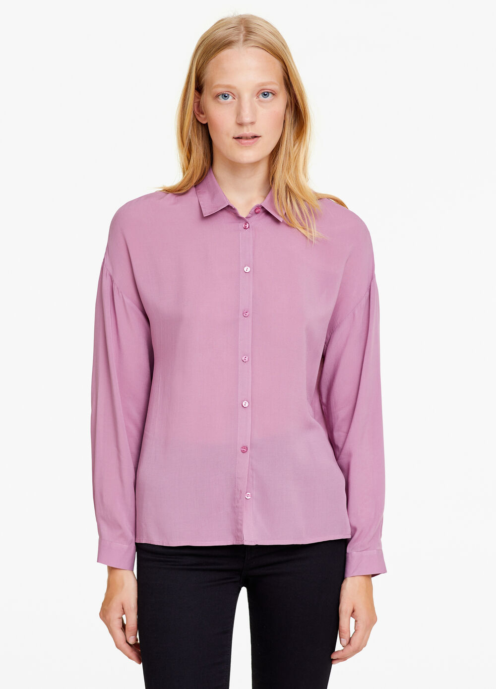 Blouse in 100% viscose with buttons
