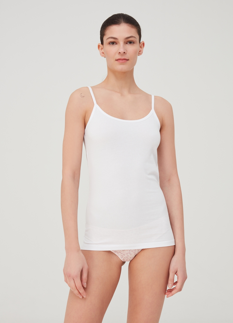 Two-pack cotton jersey vest top image number null