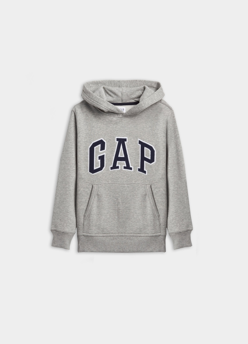 GAP sweatshirt with hood and logo embroidery image number null