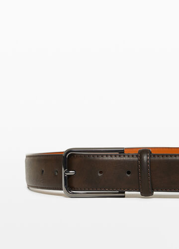 Belt with one loop and matt buckle