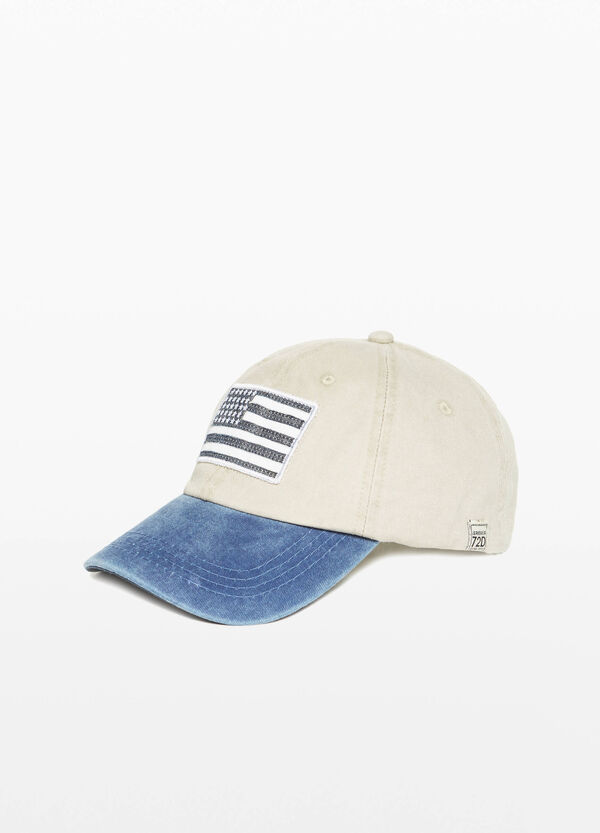 Baseball cap with flag patch