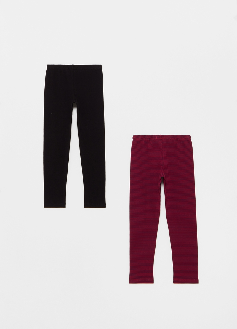 Bipack leggings cotone stretch image number null