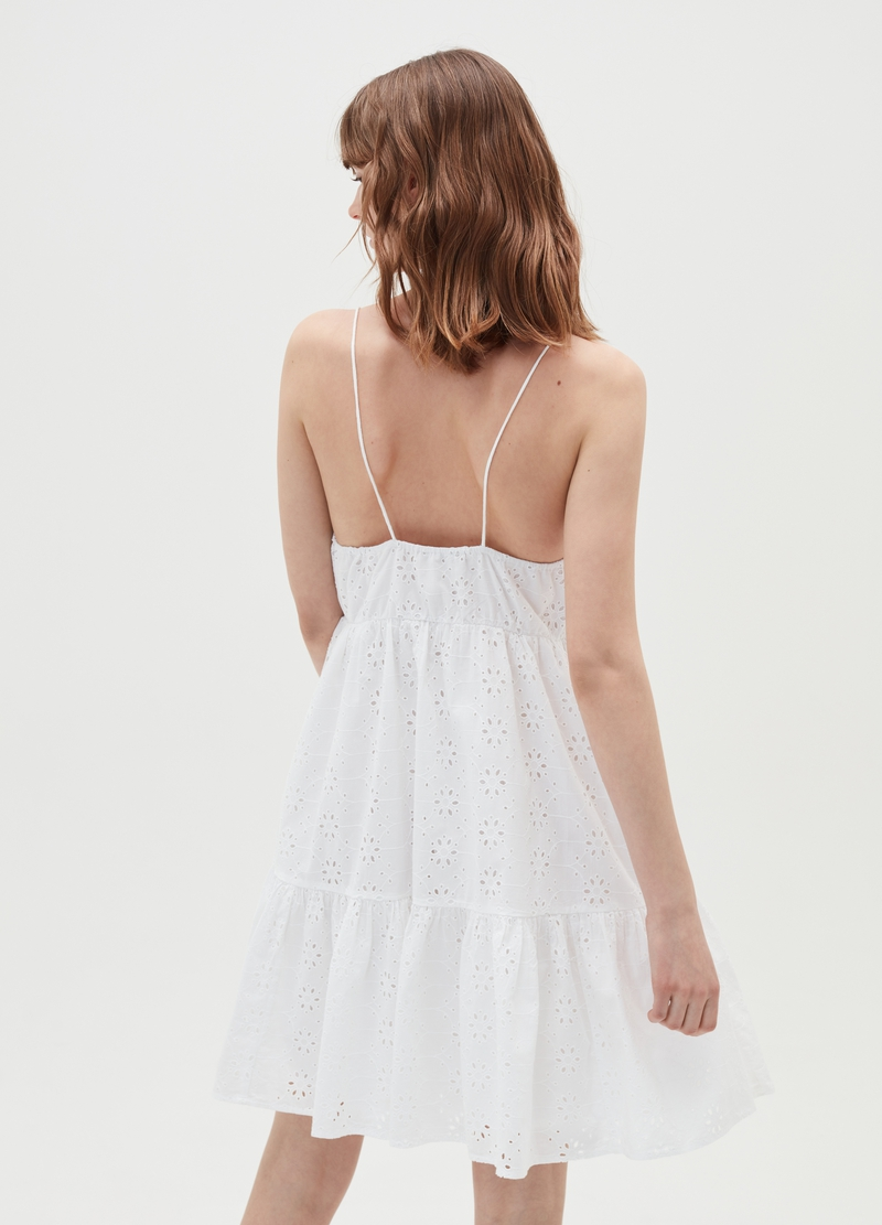 Baby Angel dress in broderie anglaise cotton image number null