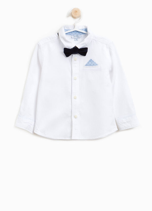 100% cotton shirt with bow tie | OVS