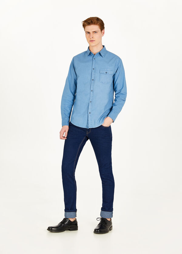 Casual cotton shirt with pocket