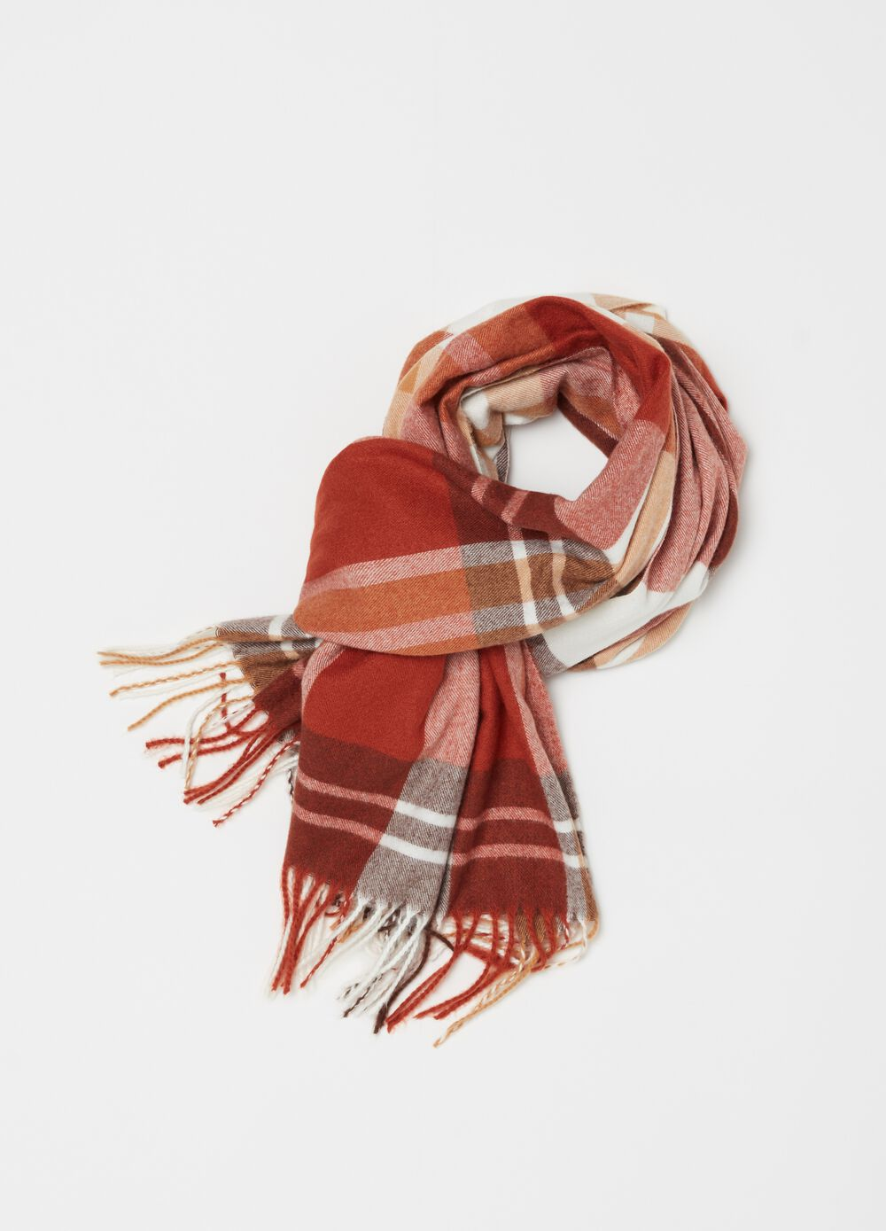 Check pattern, soft touch scarf