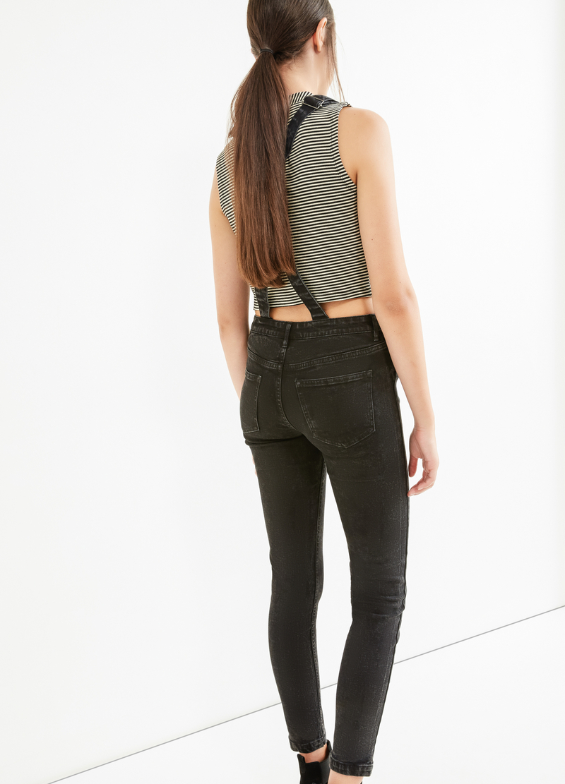 Salopette di jeans stretch skinny fit image number null