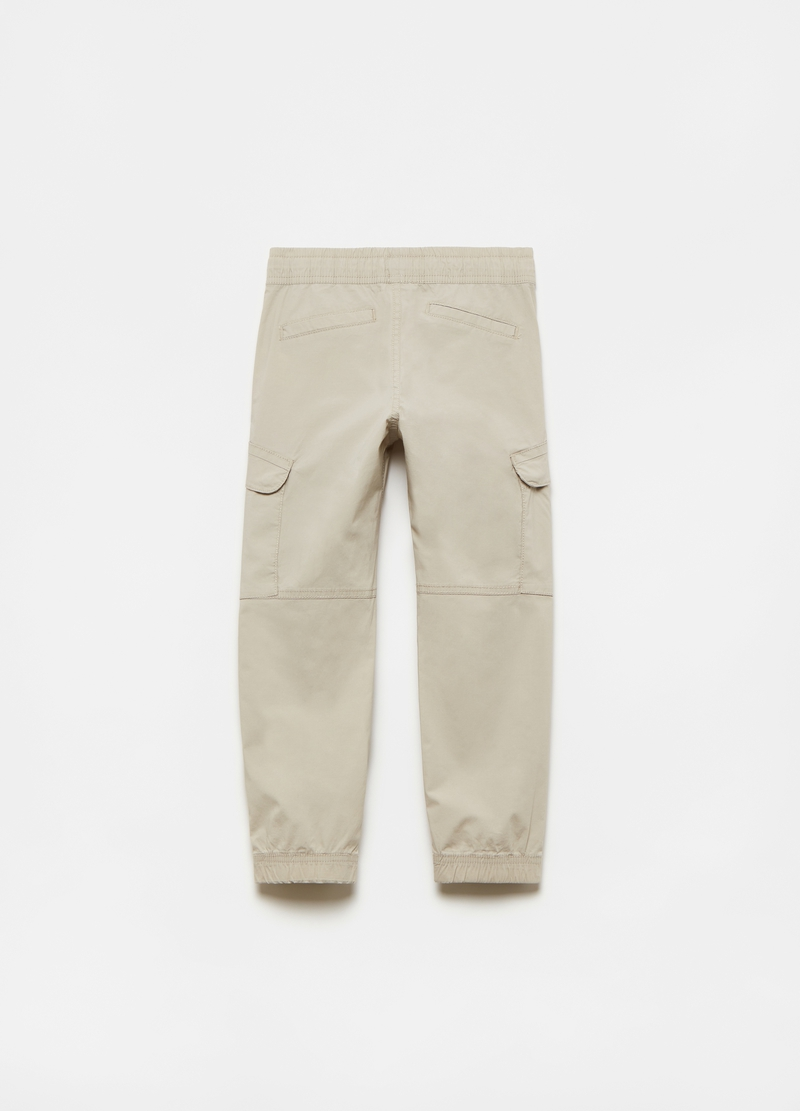 Cargo trousers with drawstring image number null