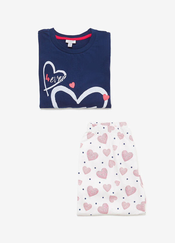 Heart and polka dot pyjamas in 100% cotton