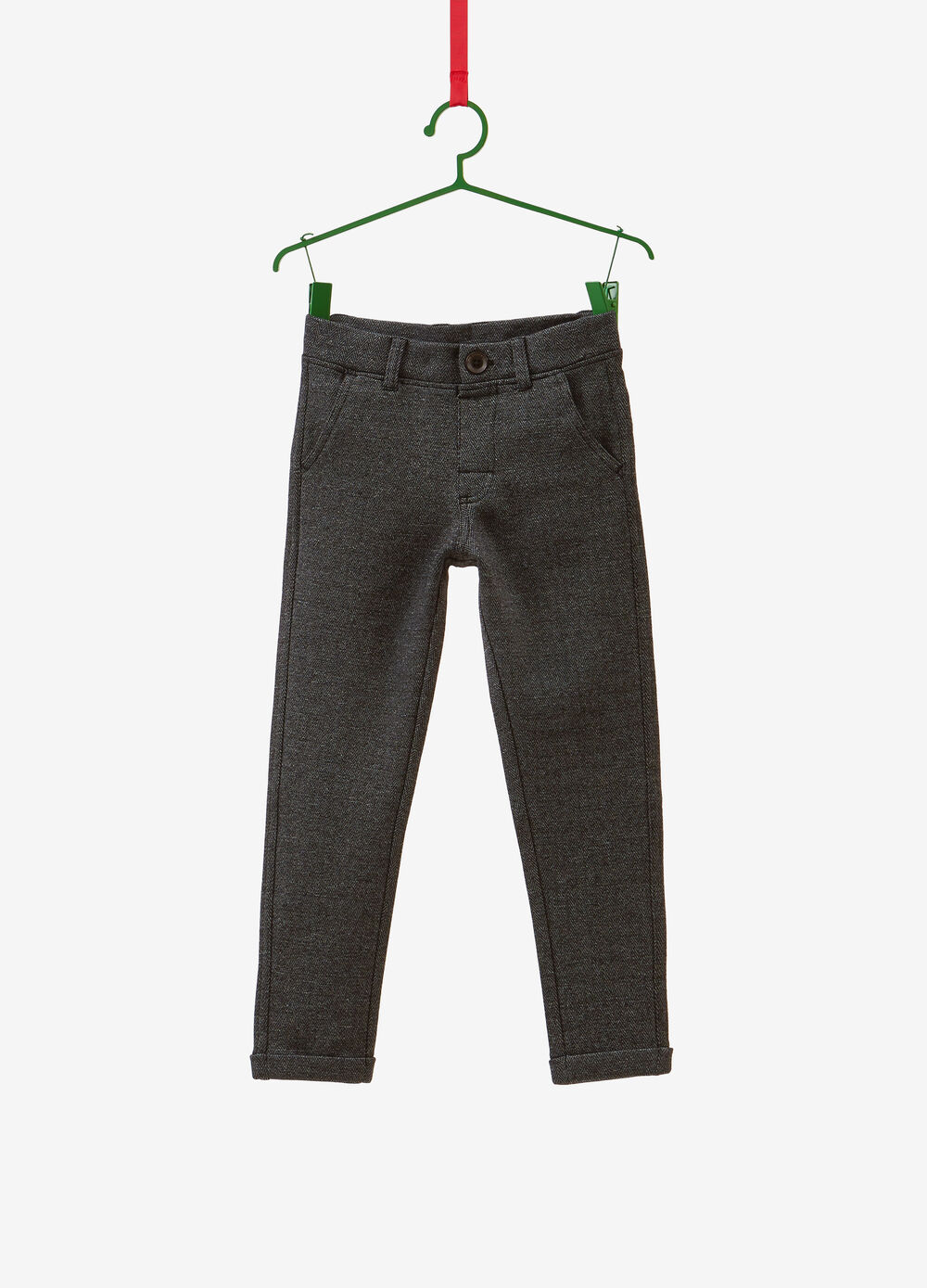 Trousers in mélange stretch cotton