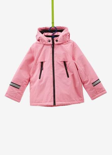 Solid colour ski jacket with pockets