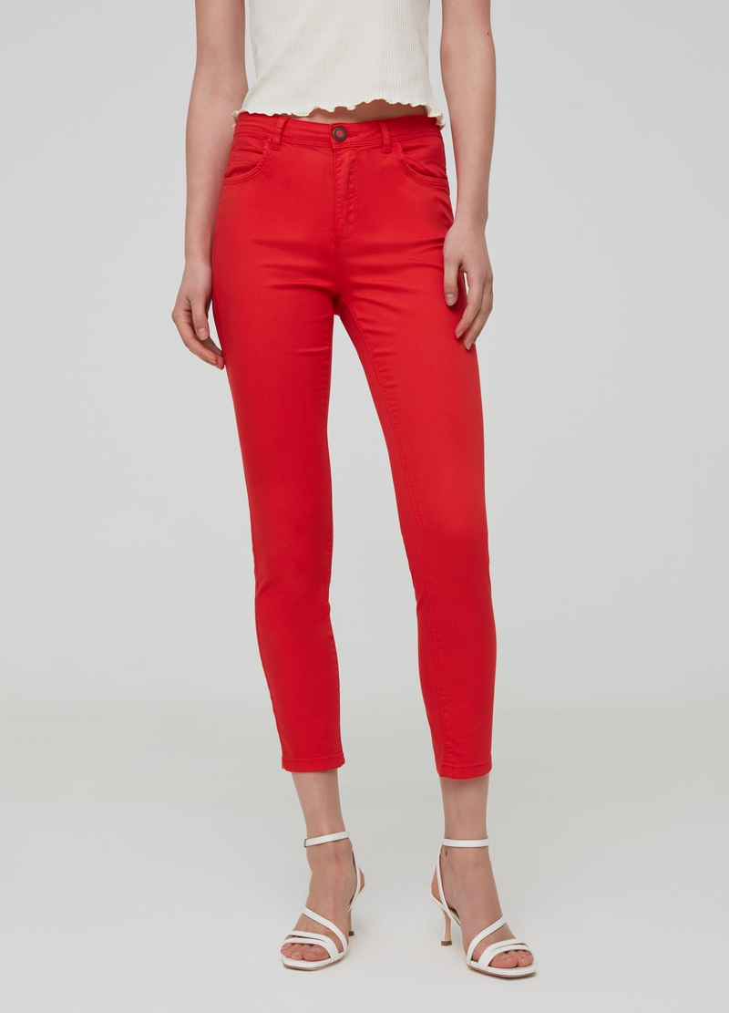 Pantaloni skinny fit in cotone stretch image number null