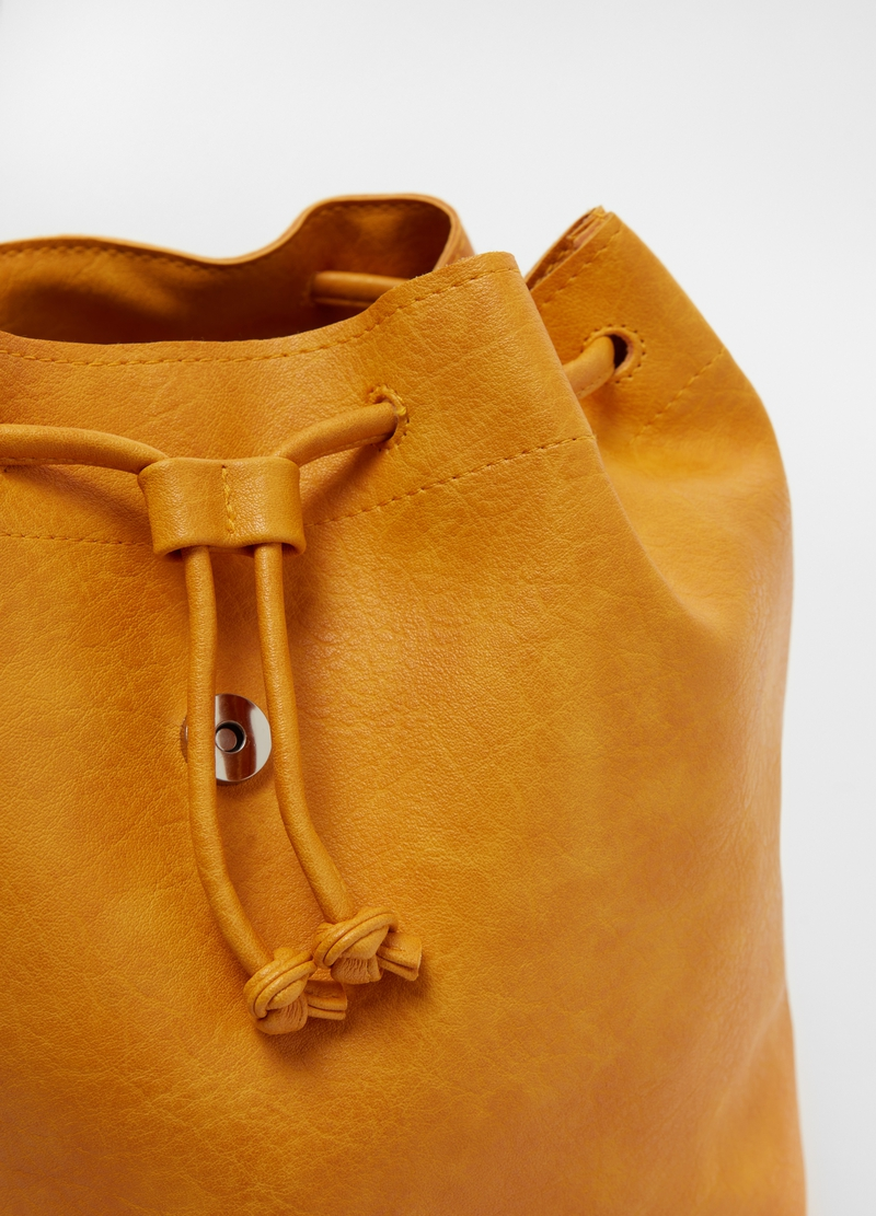 Vintage leather-look backpack image number null