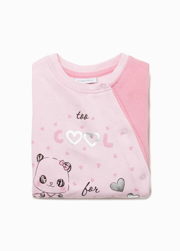 Lettering sleepsuit in 100% cotton