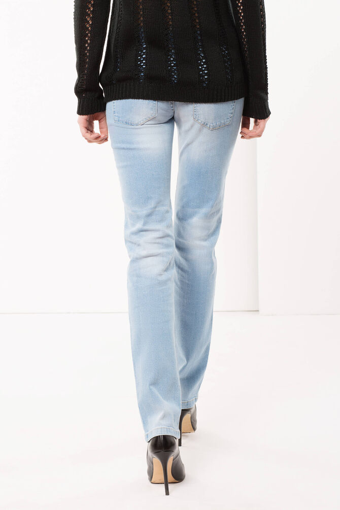 Regular fit jeans with brushstroke effect.