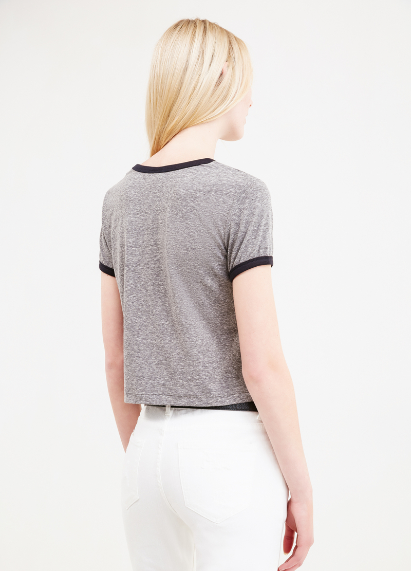 T-shirt crop stampa Mickey Mouse image number null