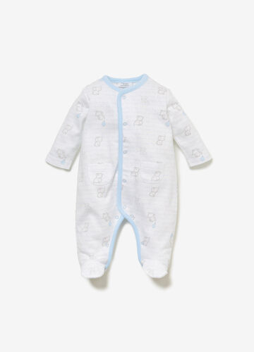 100% cotton onesie with animal print
