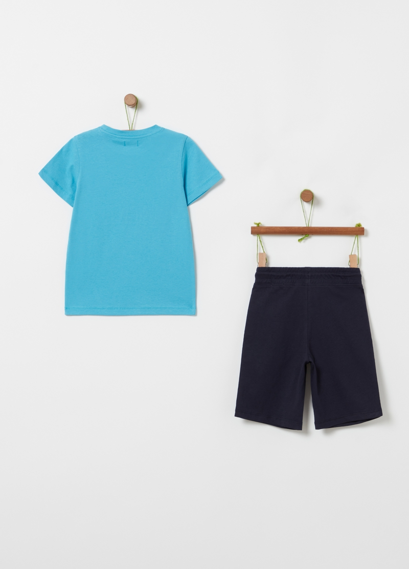 Jogging set with T-shirt and Bermuda shorts image number null