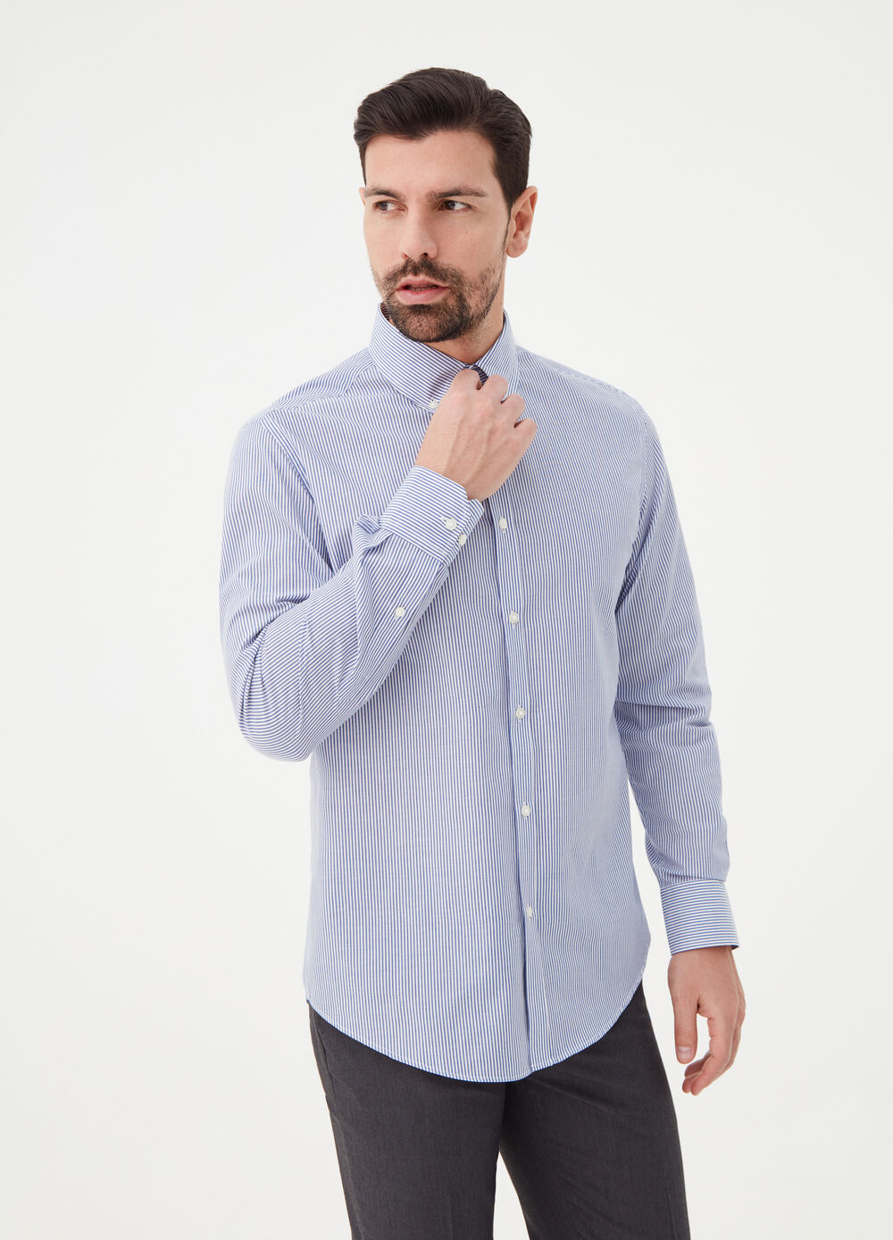 Camicia regular fit in popeline