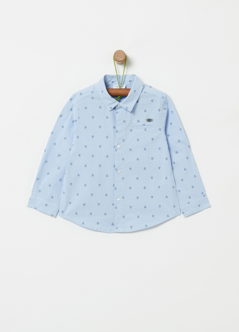 100% organic cotton patterned shirt image number null
