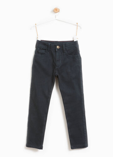 Stretch cotton trousers with 5 pockets