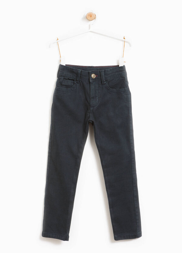 Stretch cotton trousers with 5 pockets | OVS