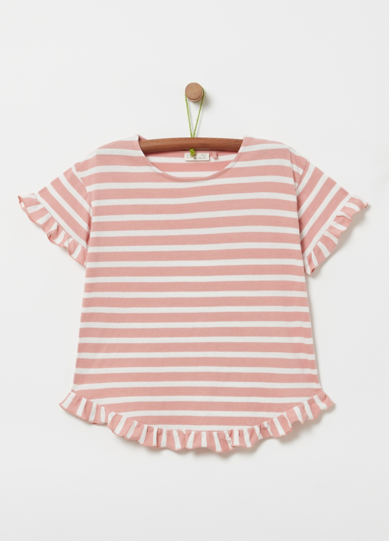 Striped T-shirt in 100% cotton image number null