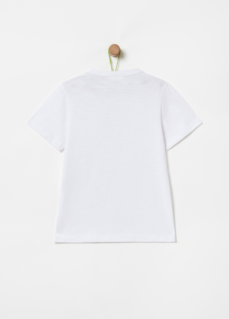 T-shirt in 100% organic cotton with granddad neckline image number null