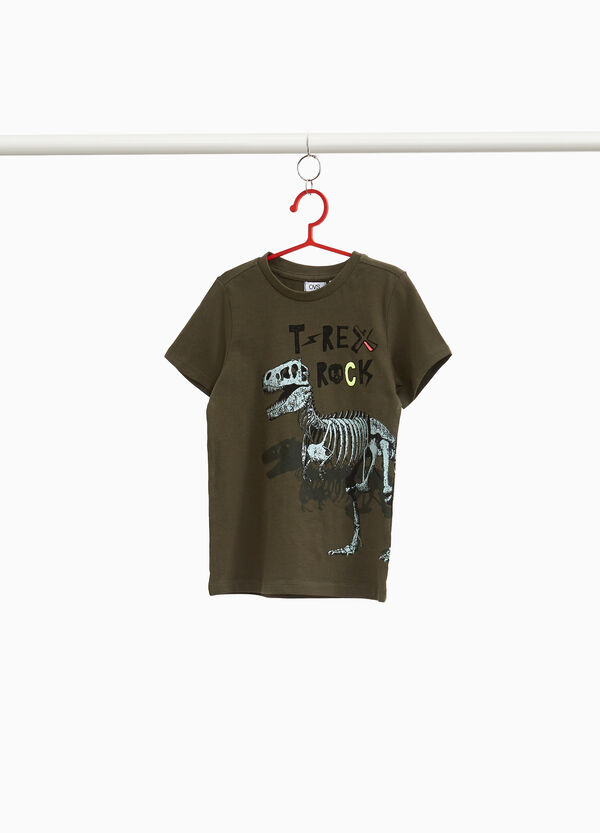 Maxi T-Rex print T-shirt in 100% cotton
