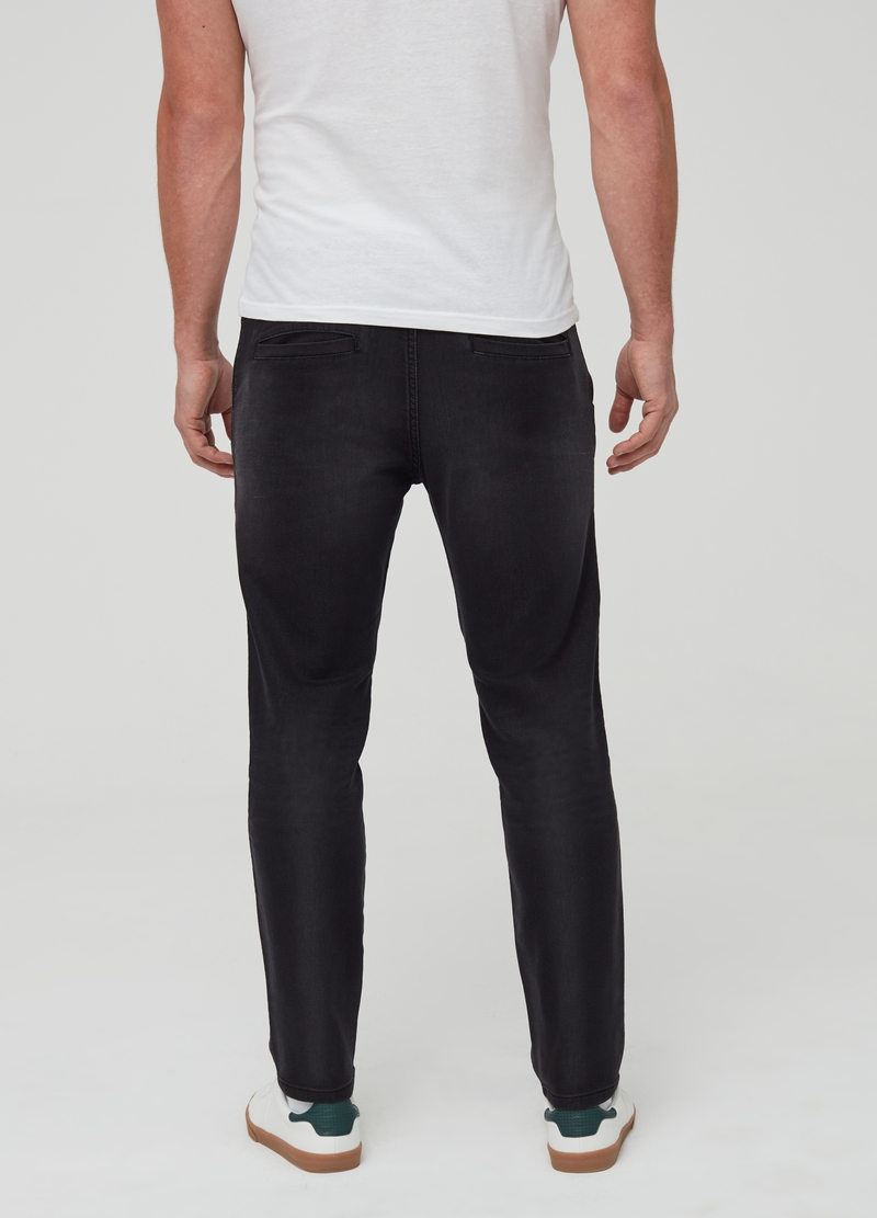 Jogger in denim slim fit modello chino image number null