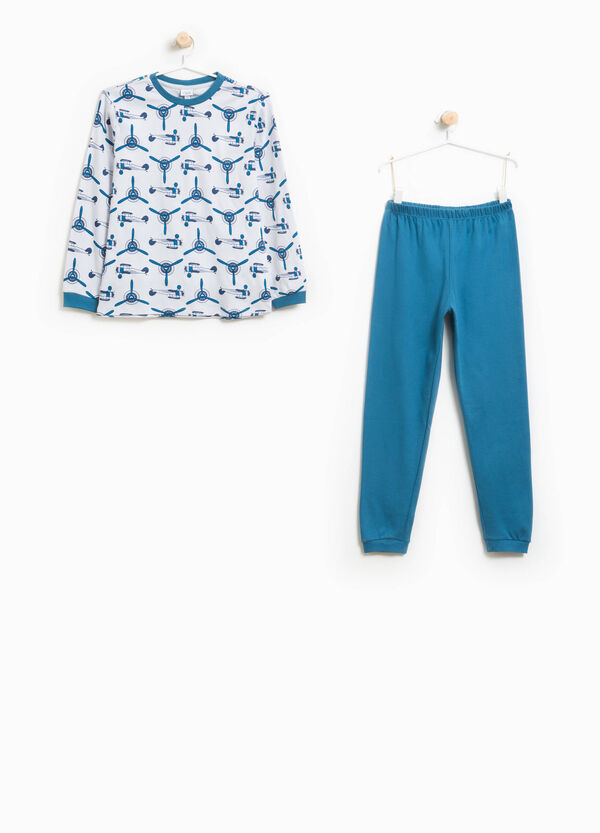 Organic cotton pyjamas with helicopter pattern | OVS