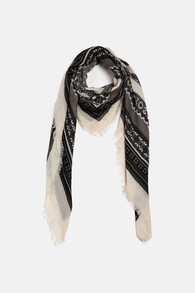 Keffiyeh scarf with a print
