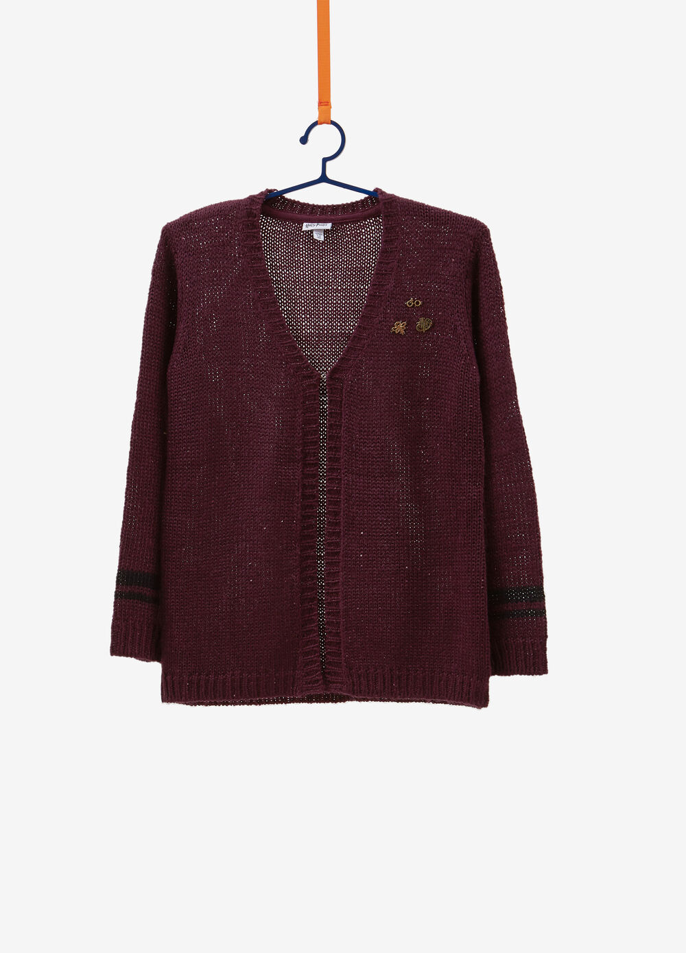 Knitted cardigan with Harry Potter patch