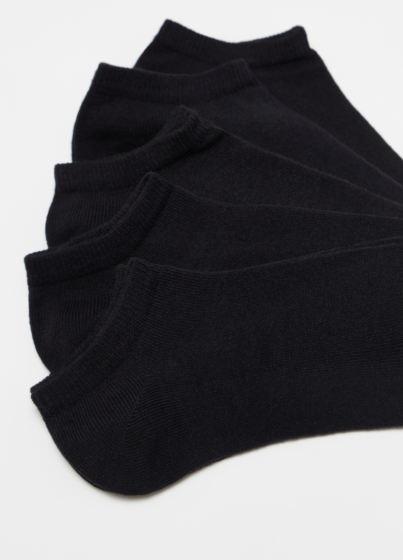 Five-pack stretch cotton shoe liners image number null