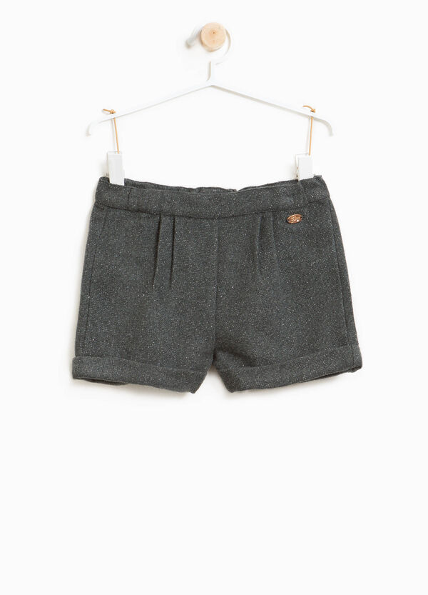 Shorts in wool blend with lurex | OVS