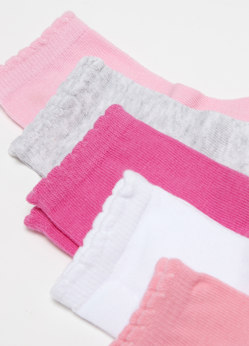 Five-pack stretch short socks with lace image number null