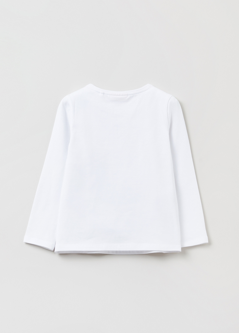 T-shirt a maniche lunghe in cotone stretch image number null