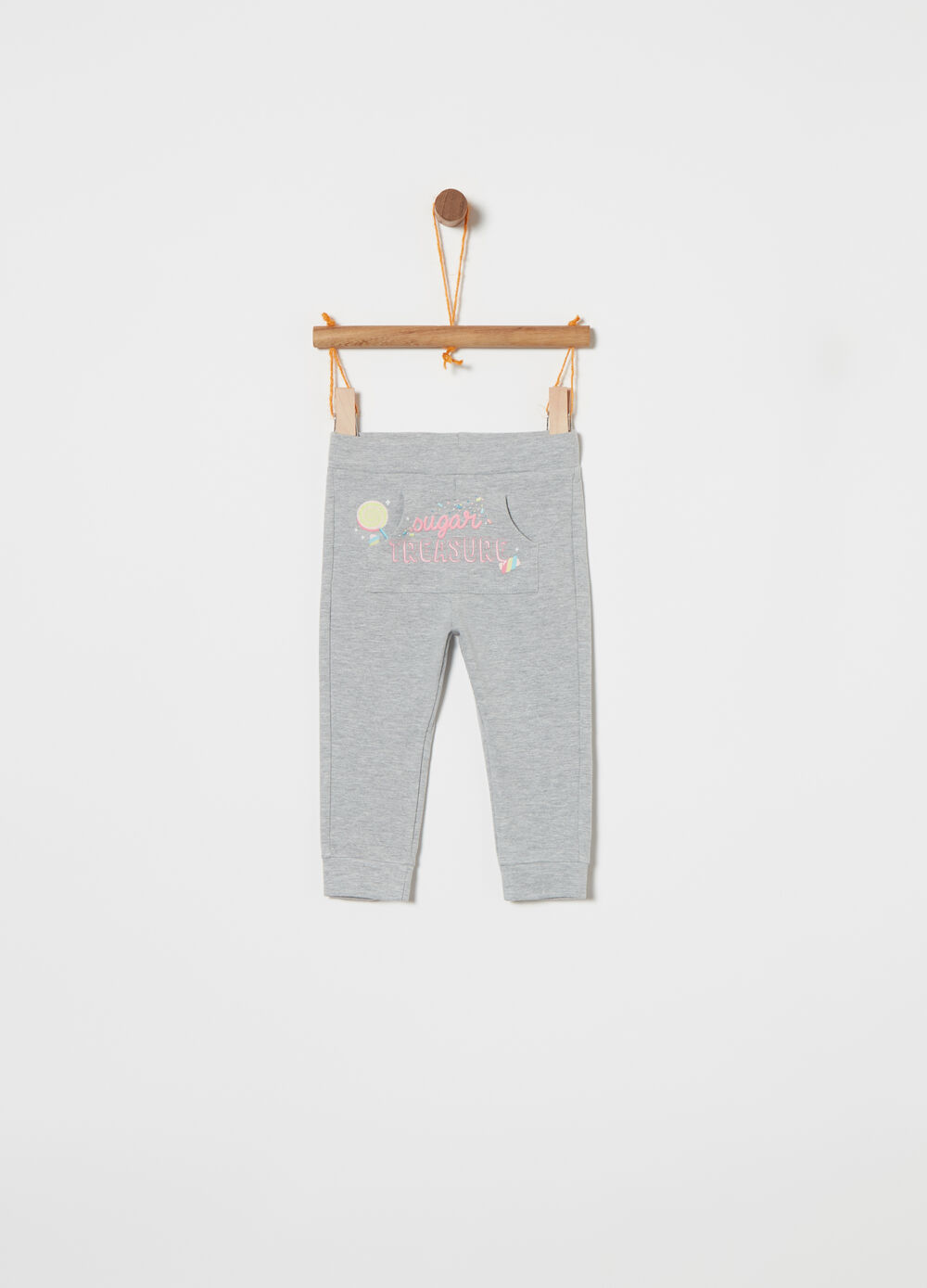 Warm stretch cotton trousers