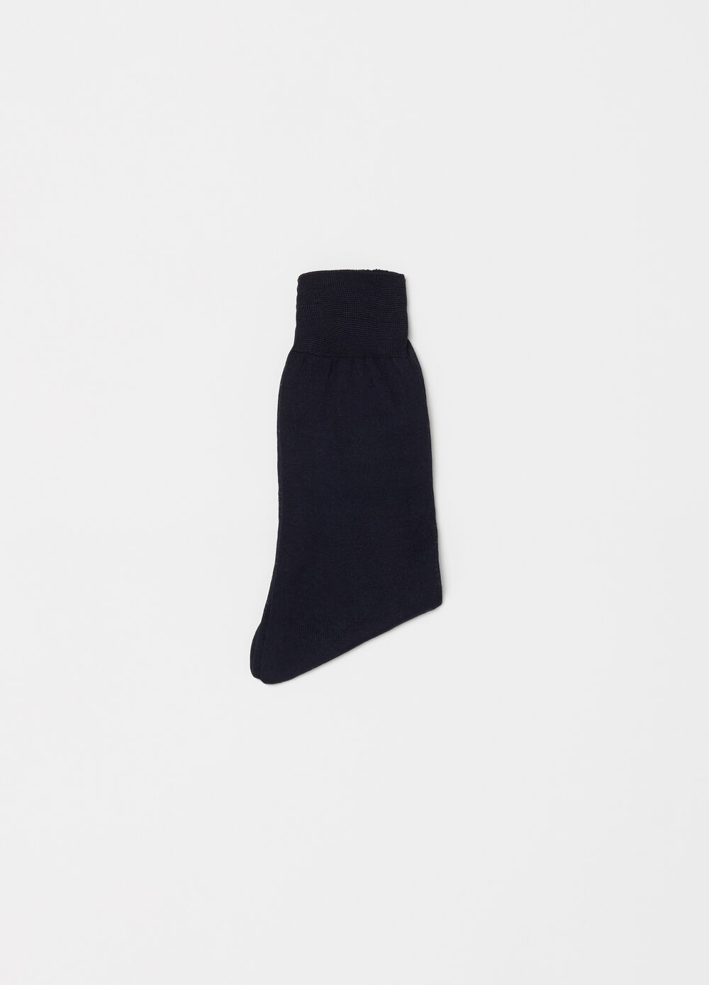 Short socks in plain knit lisle cotton