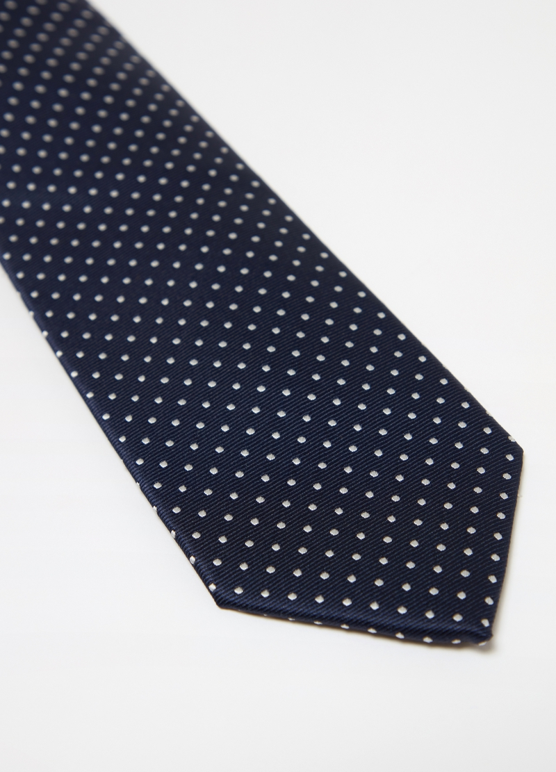 Tie with geometric polka dot weave image number null