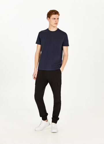 100% cotton T-shirt with splits