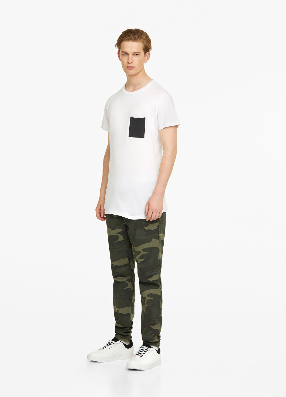 Regular-fit, jogger cargo trousers