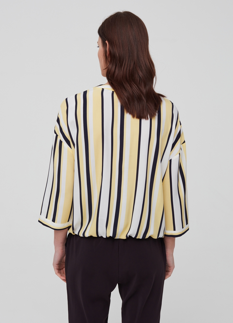100% viscose blouse with three-quarter sleeves image number null